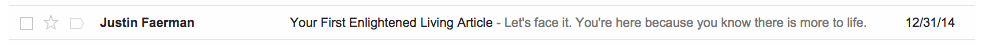 Enightened Living Email
