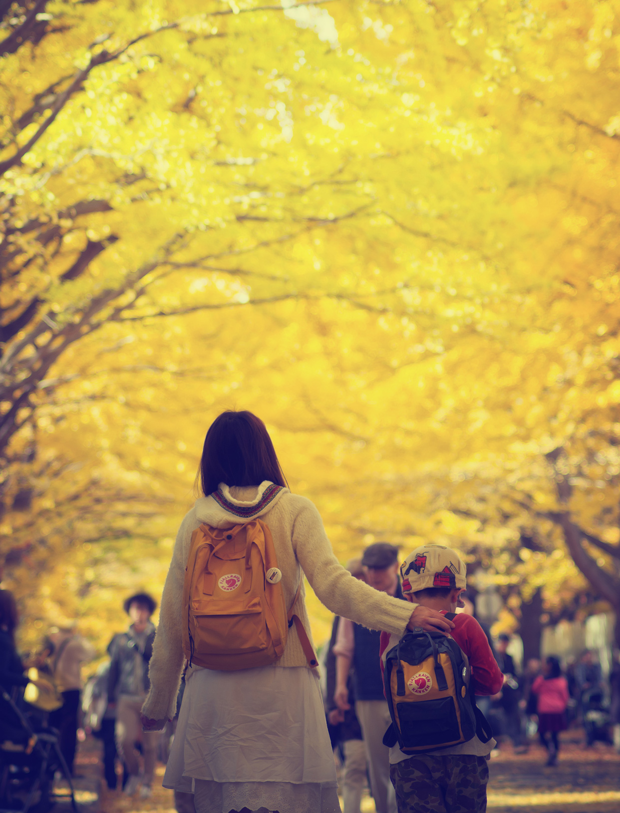 mother-son-yellow-leaves-pic