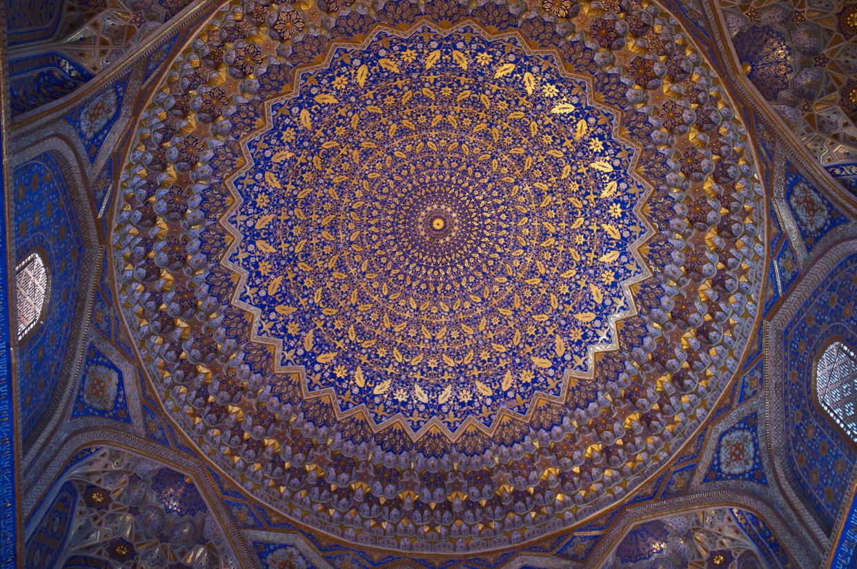 samarkand-uzbekistan-travel-Registan-Ceiling