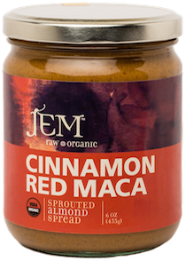 medicinal almond butter cinnamon red maca