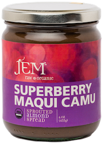 medicinal almond butter superberry maqui camu
