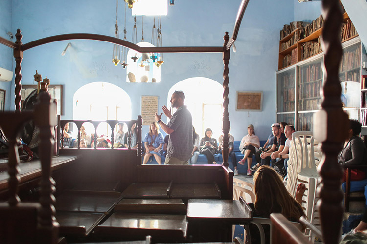 tzfat-safed-synagogue-lecture